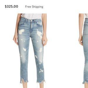 3x1 Denim W4 Colette Bleached Crop Jean - Size 25